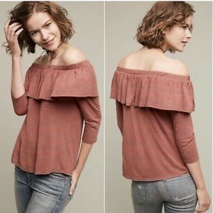 Anthropologie Dolan Charla Off the Shoulder Tee